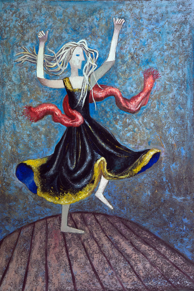 2016-ballerina-con-drappo-rosso-olio-su-tela-69x100